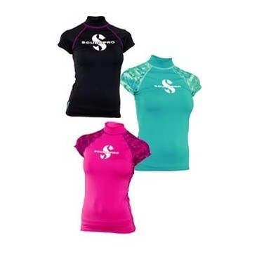 Undershirts Scubapro WOMAN Rash Guards short sleeves