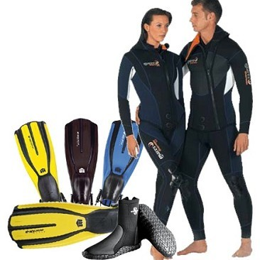 Set Wetsuit Mares Thermic Donna 5 mm + Fins Mares X3 + Boot