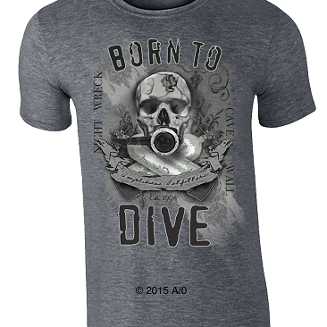 T-Shirt Amphibious Born To Dive