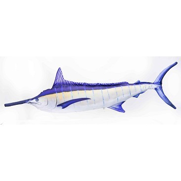 Monstrous Blue Marlin Pillow