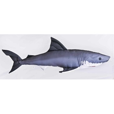 Monstrous White Shark Pillow