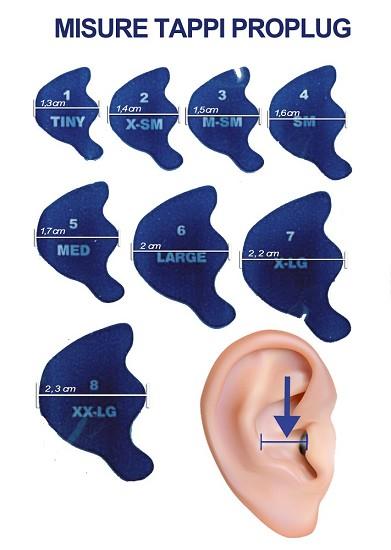 Acquasub tappi doc s proplugs auricolari autoventilati - Tappi per orecchie piscina ...